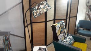 Abat-jour tambour dans un tissu Lalie Design