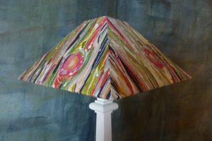 abat-jour carré pyramide tissu Lalie Design