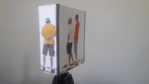 applique murale tissu joueurs de boules